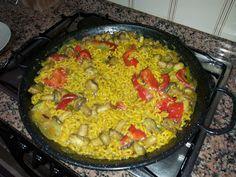Fideuà de verduras... una variante a la tradicional de pescado...