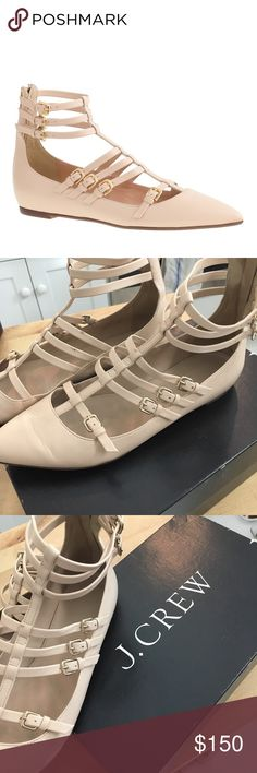 J Crew t strap Cage flats sand 8 Worn maybe 10 times. Great condition. Really really cute with everything J. Crew Shoes Flats & Loafers
