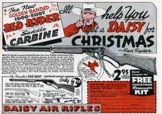 Vintage Red Ryder - Daisy BB Gun Classic Ad - A Christmas Story - by poster/print