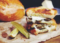 Spicy Grilled Cheese with Thai Basil Jalapeños