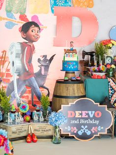 Coco movie inspired birthday party cake decor