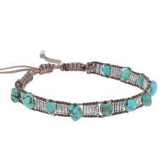 Turquoise Stone Adjustable Bracelet - Chan Luu