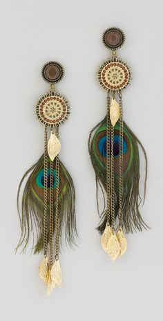 Drop Earrings Summer Earring Long Earrings Hippie Earrings Feather Earrings Mint Earrings Boho Jewelry Boho Earrings Dangle Earrings