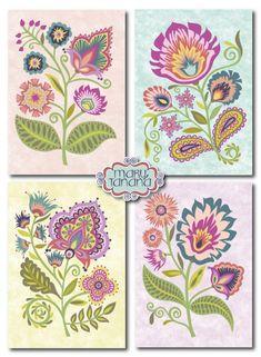 Wycinanki Folk Cards-designed by Mary Tanana