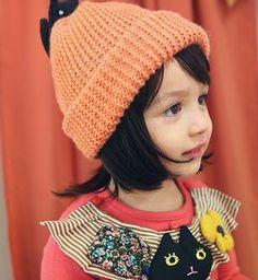 annikaアニカ ジュディニット帽(3カラー) - 韓国子供服amber,annikaのtsubomi