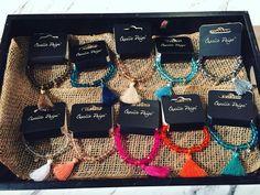 New arm candy.  Charlie Page Tassel bracelets- $8.95  #madisonsbluebrick #downtownhotsprings #tassel #bracelets