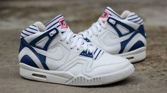 "In 2014 Nike kept the legend of Andre Agassi alive by releasing  several colorways of the classic Nike Air Tech Challenge II. In 2015 we can expect to see the silhouette again in some fun new designs. Up next is the Nike Air Tech Challenge II ""Pinstripe""  which is built with a white leather base"