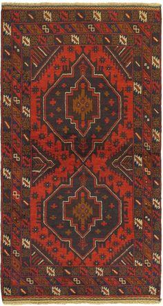 Hand-knotted Kazak Dark Burgundy Wool Rug