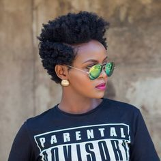 2 day old Bantu knot out by @sheilandinda    tapered cut. short natural hair. short hairstyles. natural hairstyles.