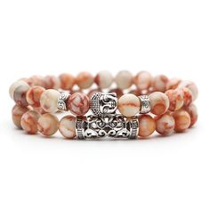 Choose from 18 styles or collect them all. One size fits all. These make great gifts too! Power Bracelet, Bracelet Set, Handmade Necklaces, Handcrafted Jewelry, Beaded Bracelets, Wrap Bracelets, Silver Charms, Turquoise Bracelet, Buddha Head
