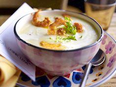 Kohlrabi-Cremesuppe mit Teufelsgarnelen  Rezept