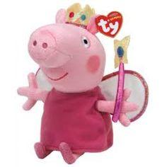 Ty Peppa Pig Beanie Babies Princess Peppa