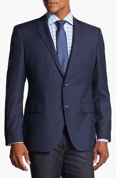 #HUGO BOSS #Jacket/Sportcoat #BOSS #HUGO #BOSS #'Keys' #Trim #Herringbone #Sportcoat BOSS HUGO BOSS 'Keys' Trim Fit Herringbone Sportcoat 40L http://www.seapai.com/product.aspx?PID=5416410