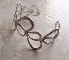Sterling Silver Cuff Lacy Airy Swirly Vintage by cutterstone