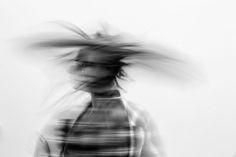 #slow shutter #viewbug #black and white #blur #portrait #surreal #swish
