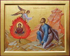 Greek Icons, Church Icon, Burning Bush, Moise, Byzantine Icons, Art Icon, Orthodox Icons, Peter Paul Rubens, Sacred Art