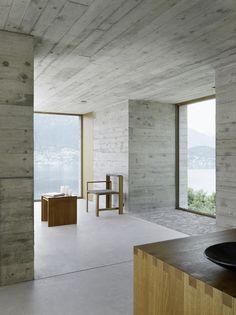 New Concrete House by Wespi de Meuron Romeo Architetti Minimalist Architecture, Minimalist Interior, Minimalist Home, Minimalist Design, Concrete Architecture, Interior Architecture, Interior And Exterior, Installation Architecture, Beautiful Architecture