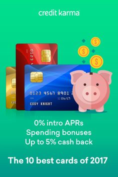A strong credit card can make a huge difference for your finances. Funding a big purchase? A 21-month 0% intro APR could let you pay off your balance over time without wasting money on interest. Plus, a rewards card could help you get cash back for money you would�ve spent anyway.  Browse some of the best credit cards of 2017 on Credit Karma.