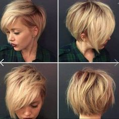 Idée Tendance Coupe & Coiffure Femme 2018 : 30 Stylish Short Hairstyles for Girls and Women: Curly Wavy Straight Hair PoPular Haircuts Round Face Haircuts, Haircuts For Fat Faces, Layered Haircuts, Layered Lob, Popular Haircuts, Popular Short Hairstyles, Great Hair, Hair Today, Hair Dos
