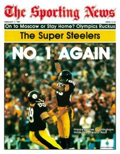 Steelers Lynn Swann and Bennie Cunningham, 2 Feb 1980