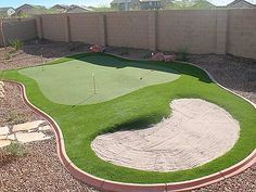 Putting Green Photos: Putters Edge Putting Greens Synthetic Lawns Putting Green Turf, Home Putting Green, Outdoor Putting Green, Backyard Playground, Backyard For Kids, Backyard Patio, Backyard Landscaping, Tropical Backyard, Backyard Paradise