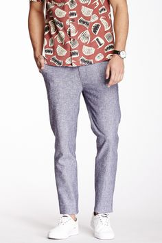 Vanishing Elephant Classic Linen Blend Suit Pant