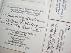 String invitation for Bella Figura