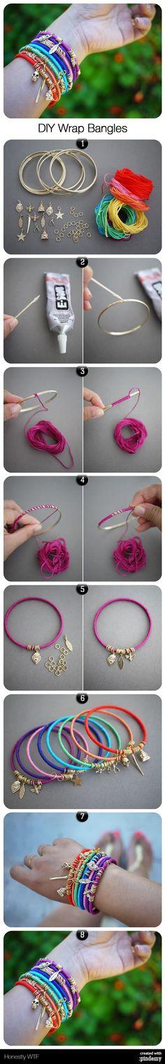DIY Wrap Bangles #thursday #diy http://pindemy.com/p/365/diy-wrap-bangles