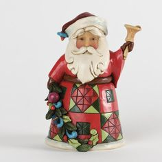 Glad Tidings-Pint-Sized Santa With Bell Figurine