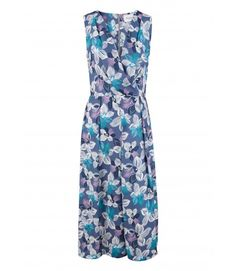 Closet Floral Cross Over Midi Dress - Enchanted Nights - Collections