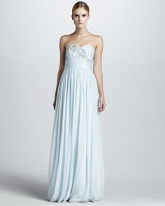 Strapless Beaded Gown by Notte by Marchesa at Bergdorf Goodman.