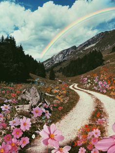 Rainbow Wallpaper, Flower Wallpaper, Nature Wallpaper, Aesthetic Iphone Wallpaper, Aesthetic Wallpapers, Autumn Leaves, Paths, Country Roads, Alps Switzerland