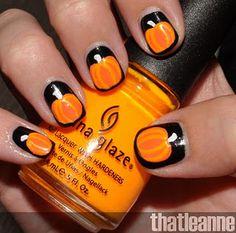 Pumpkin nails!