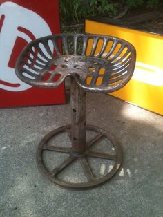 Tractor Seat Chair / Upcycled Vintage Stool
