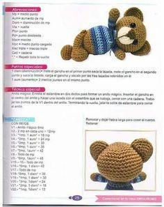 68 Patrones de amigurumi en español Crochet Gratis, Free Crochet, Knit Crochet, Crochet Doll Pattern, Crochet Patterns, Chrochet, Crochet Animals, Crochet Necklace, Knitting