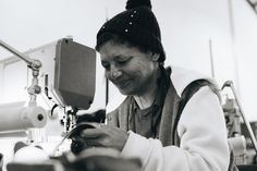 Sandra is our lovely, reliable and big hearted machinist! Here she is seen sewing the uppers of out shoes! Ethical Fashion, Slow Fashion, Dream Team, Sewing, Big, Celebrities, Shoes, Dressmaking, Celebs