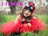 Livraison gratuite, 10 pcs/lote 100% coton enfants Crochet Earflap caps, Nouveau mignon coccinelle bébé Crochet chapeau
