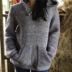 Chunky Knit Unisex Hoody pattern | Blacker Yarns