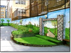 playground mural... unique works of art with children, for children