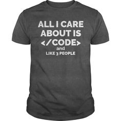 All I care about is code programmer