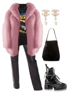 """Untitled #1752"" by lucyshenton ❤ liked on Polyvore featuring Helmut Lang, Dogeared, Yves Saint Laurent and Chanel"