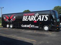 University of Cincinnati Motor Coach Wrap