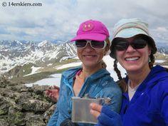 Natalia Moran and Brittany Konsella on the summit of Mount Oklahoma.