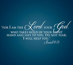 Isaiah 4113 Scripture wall lettering made of by TheCreepingTree, $40.00