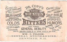 AdvertisementDrCoppsWhiteMountainBitters1883 - Bitters - Wikipedia, the free encyclopedia