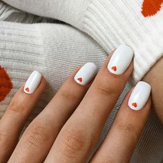 Nail art is a very popular trend these days and every woman you meet seems to have beautiful nails. It used to be that women would just go get a manicure or pedicure to get their nails trimmed and shaped with just a few coats of plain nail polish. Cute Nail Art Designs, Short Nail Designs, Nail Designs With Hearts, Red Nail Art, White Nail Art, Pink Nails, Red And White Nails, Color Nails, Gradient Nails