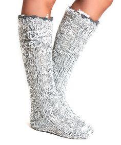Another great find on #zulily! Flannel Blizzard Slipper Socks by Lemon Legwear #zulilyfinds