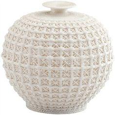Intricate White Vase