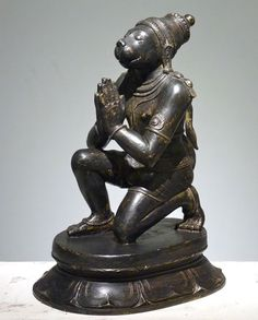 lord-hanuman-bronze-artefacts from natesans Indian Idol, Indian Art, Sculpture Clay, Bronze Sculpture, Hanuman, Krishna, Hindu Statues, Hampi, Lord Vishnu