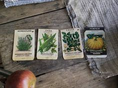 Antique Farm Seed Packet Country Garden Advertising Set of 4